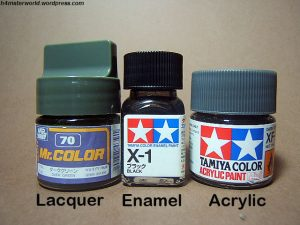 lacquer with enamel