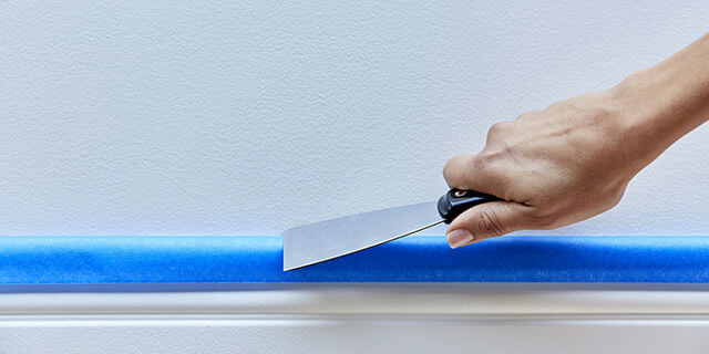 Press Tape with a Putty Knife