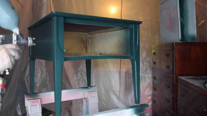 Painting Furniture with HVLP Spray Gun