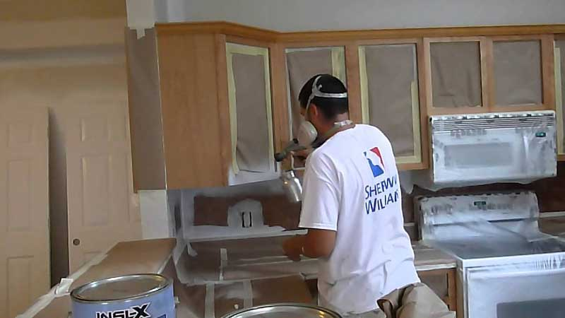 Use A Paint Sprayer On Cabinets