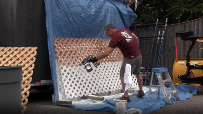 Using the Battery Operated Paint Sprayer