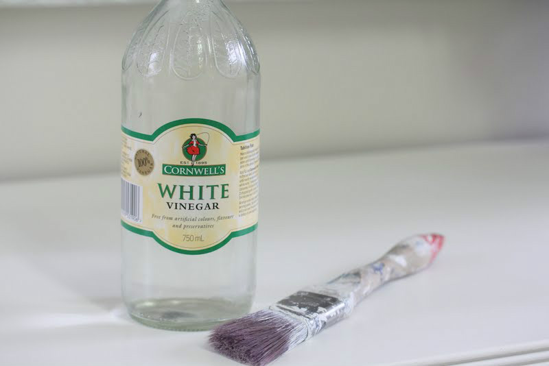 With white vinegar