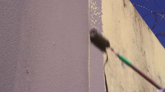 Painting on the dirty surface