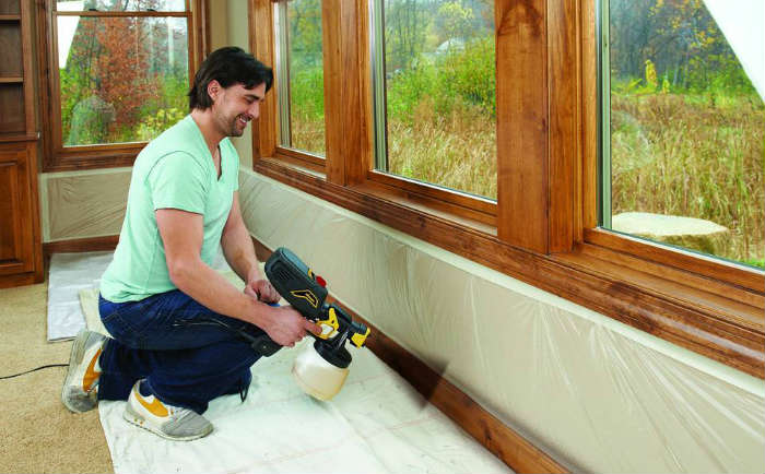 Can you use paint sprayer indoors?
