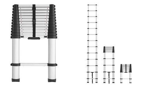 Cosco 20313T1ASE Smartclose Telescoping Aluminum Ladder
