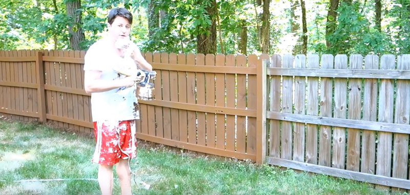 Benefits of using a Sprayer to Stain your Fence