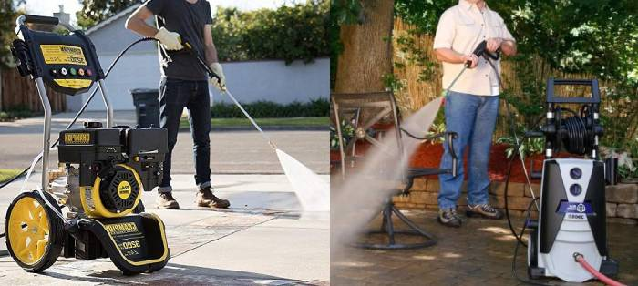 Electric pressure washers vs Gas pressure washers