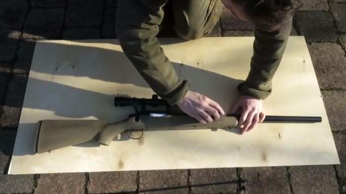 Sanding the gun parts