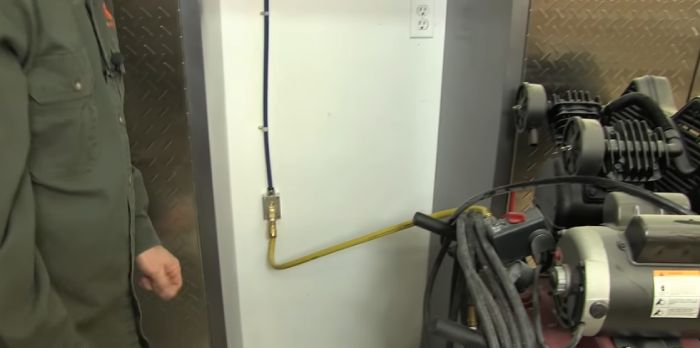 air compressing piping system