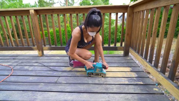 How do you prepare the deck