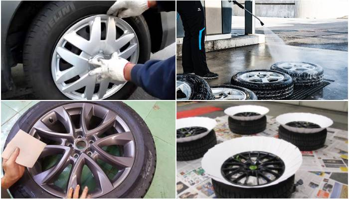 Steps For Painting Rims