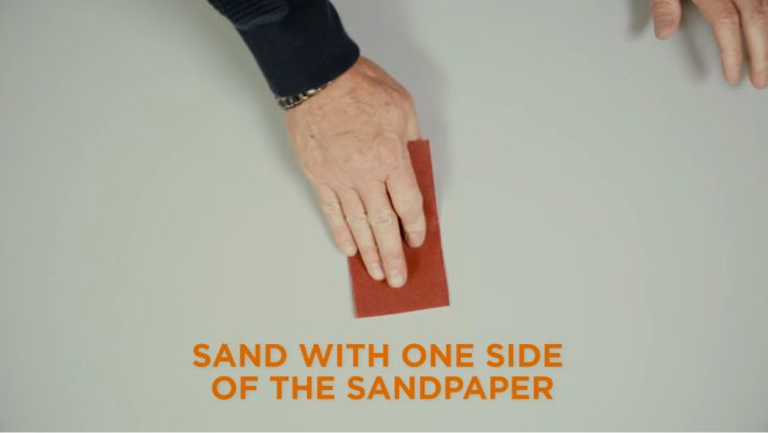 Sandpaper- Useful but be careful with it