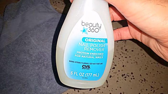 Use nail polish remover