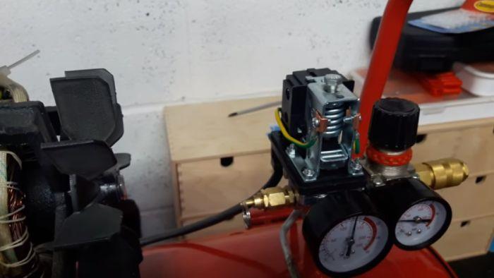 adjust the air compressor pressure switch