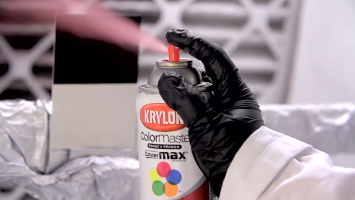 Using Krylon Spray Paint Color