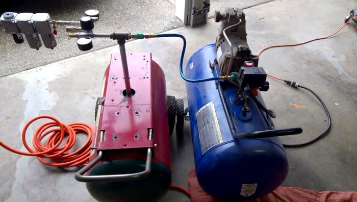 Hooking Two Air Compressors Together