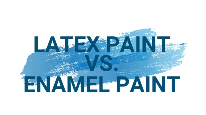Differences Between Latex And Enamel Paint
