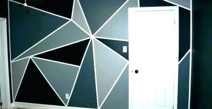 Wall Paint Design Ideas With Tape A Creative Way To Make Use Of Tapes
