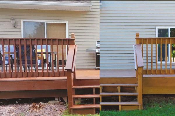 Choose a deck stain color