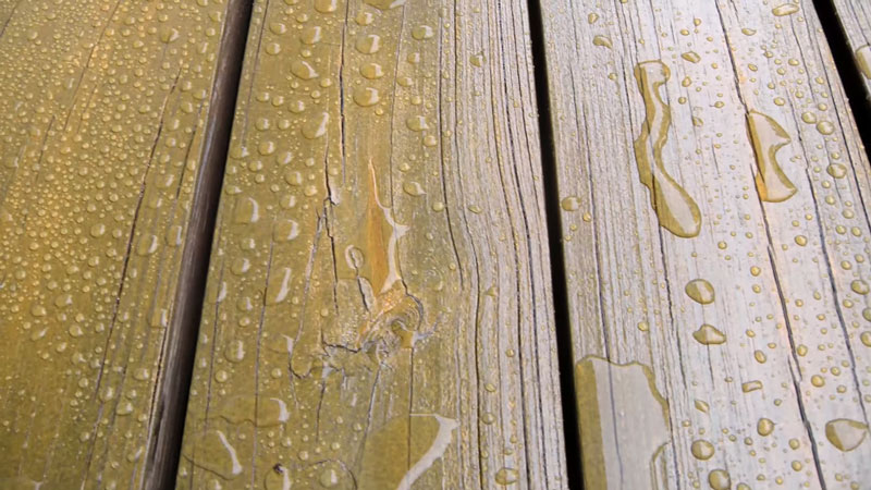 protect wood stain from water