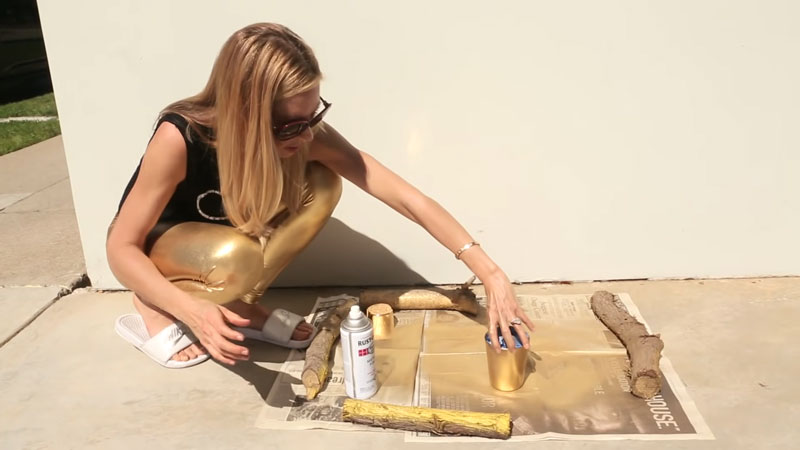 correct type of gold spray paint